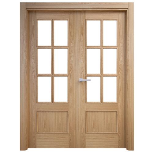 puerta atenas roble de apertura izquierda de 125 cm