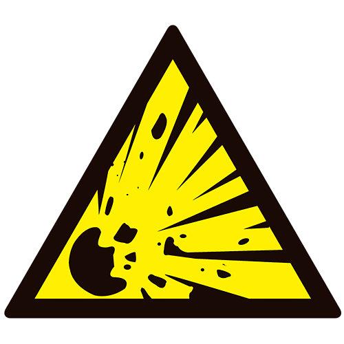 Cartel peligro explosión 23x21cm