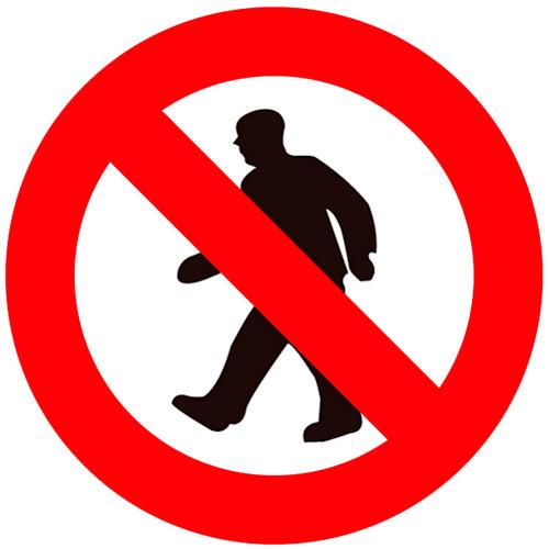 Cartel prohibido el paso 10cm