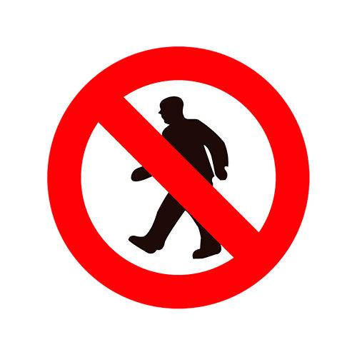 Cartel prohibido el paso 15 cm