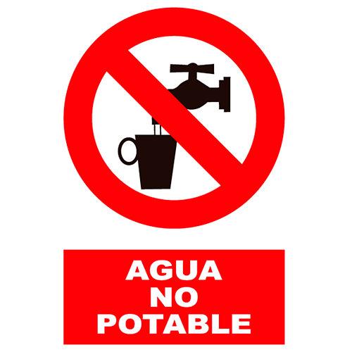 Cartel agua no potable 23x34 cm