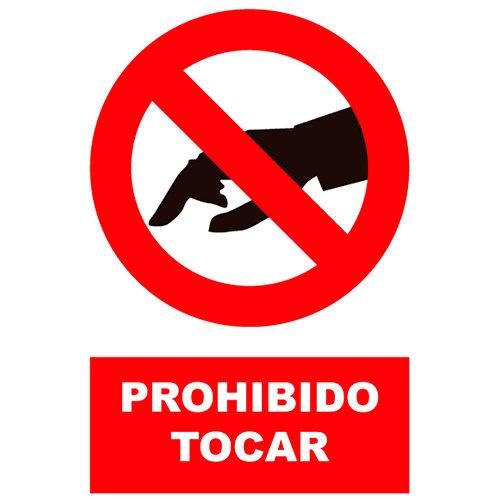 Cartel prohibido tocar 23x34 cm