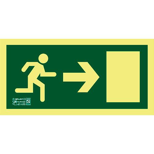 Cartel pvc evacuación direccional izquierda 16x32 cm