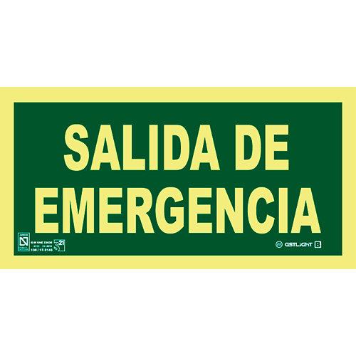 Cartel pvc salida emergencia 14,8x29,7 cm