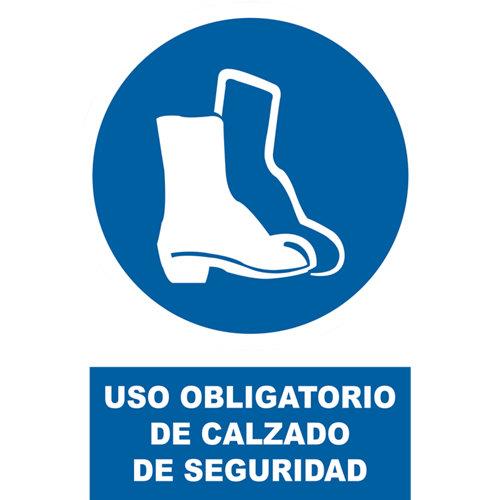 Plancha de señalización calzado seguro 0,03x25 cm