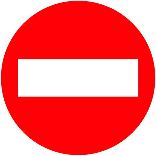 Señal vial entrada prohibida 60x60 cm