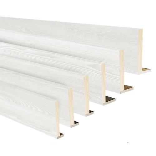 Kit de 6 tapetas en l mdf blanco 80 x 12/10 mm,