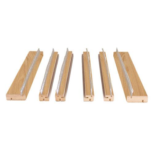 Kit de moldura para casoneto 110 mdf roble para puerta corredera doble