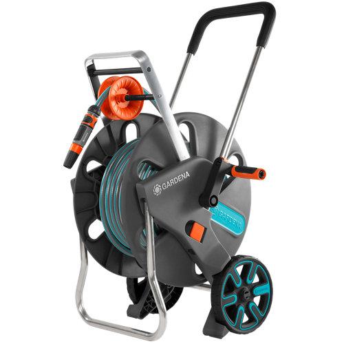 Porta manguera equipada con ruedas gardena de 30m de 19mm de ø