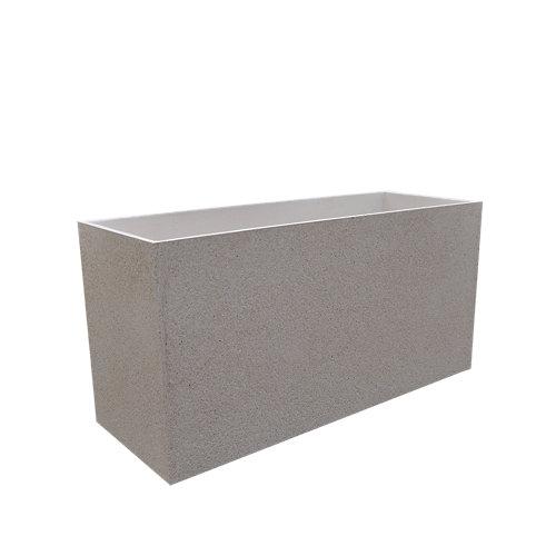 Maceta de hormigón movelar blanco 29x38.5 cm