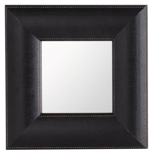 Espejo rectangular rect wengue negro 87.2 x 67.2 cm