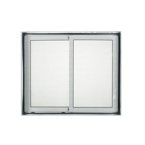 Mosquitera fija para ventana de fibra de vidrio de 100x120 cm