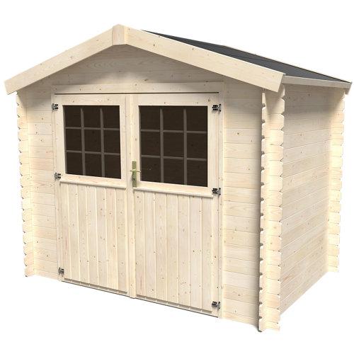 Caseta de madera kipo axess de 276.4x228.6x180.5 cm y 4.99 m2