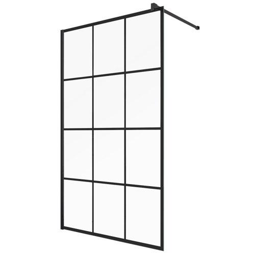 Panel de ducha cool serigrafiado perfil negro 120x200cm