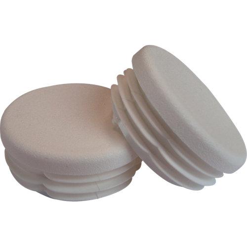 Pack tapones blanco para pasamanos aluminio blanco diametro 4cm