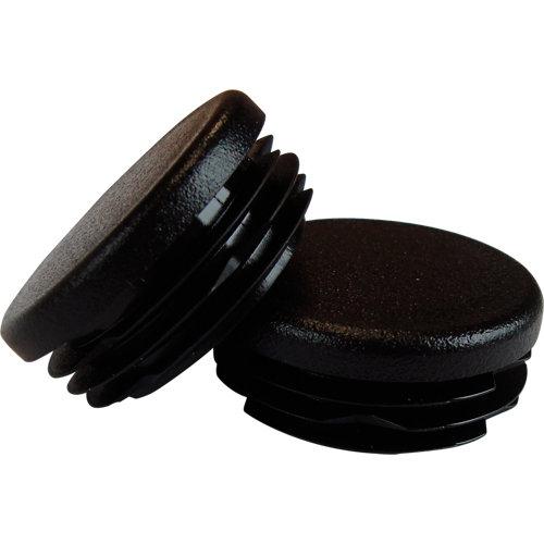 Pack tapones negro para pasamanos aluminio negro diametro 4cm