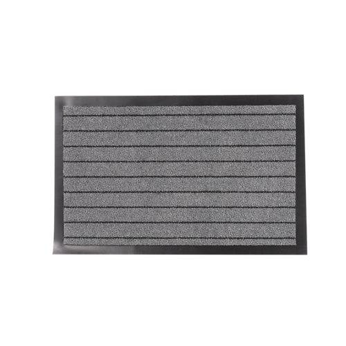 Felpudo gris de polipropileno 40 x 60 cm
