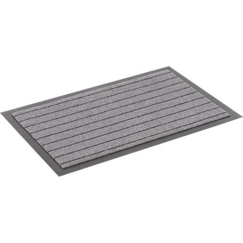 Felpudo gris de polipropileno 90 x150 cm