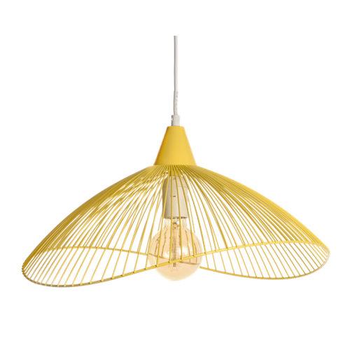 Lámpara de techo kastelli 1 luz ø45 cm amarilla