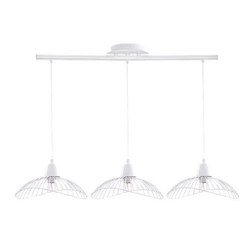 Lámpara de techo kastelli 3 luces blanca
