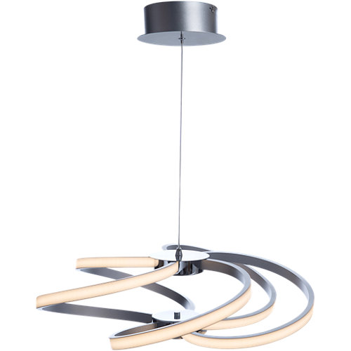 Lámpara de techo led dominica cromo