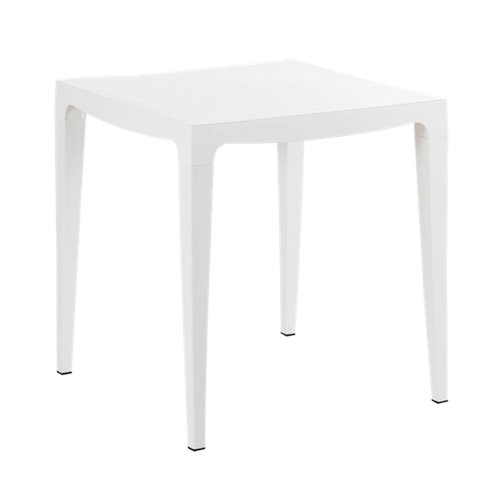 Mesa de jardín de comedor de resina máster blanco de 70x85x70 cm