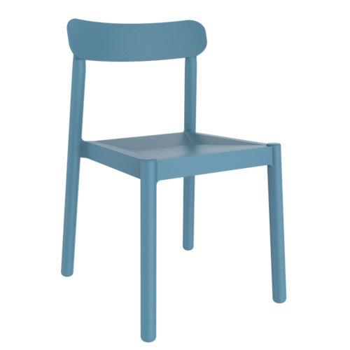 Silla de exterior de resina elba azul