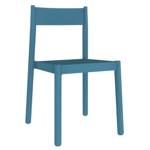 Silla de exterior de resina danna azul