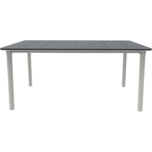 Mesa de jardín de comedor de resina noa blanco de 160x74x160 cm