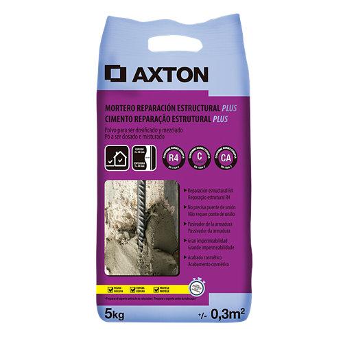 Mortero reparación estructural axton plus 5 kg gris