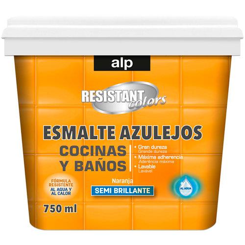 Esmalte azulejos cocina y baño alp naranja 750 ml
