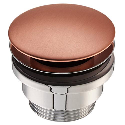 Válvula desagüe deco redonda clic-clac ø32mm cobre