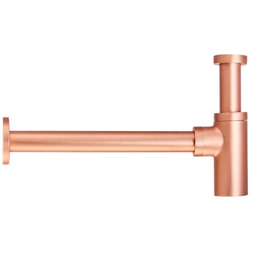 Sifón decorativo redondo maier ø32mm cobre