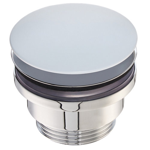 Válvula desagüe deco redonda clic-clac ø32mm blanca