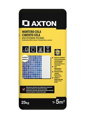 Mortero cola AXTON blanco para exterior - 25kg