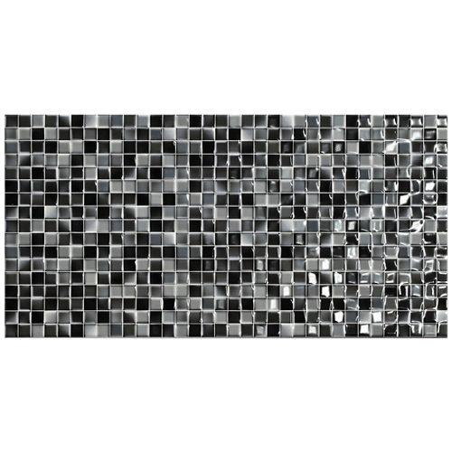 Azulejo cerámico 25x50 andros negro brillo