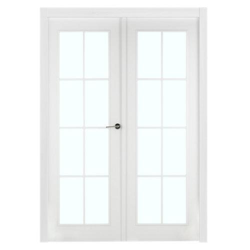 puerta marsella blanco de apertura izquierda de 145 cm