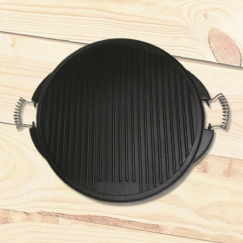 Asador giratorio de acero 43x43 cm