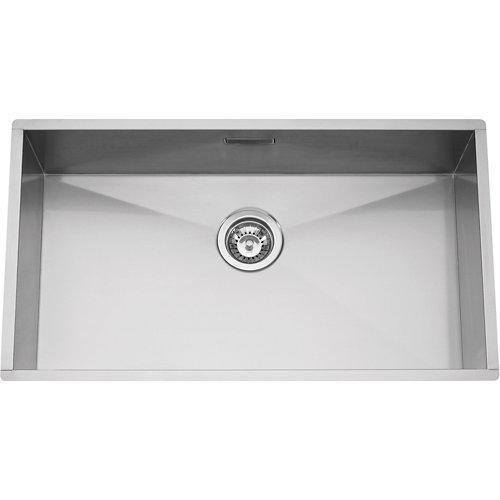 Fregadero 1 seno de acero inox cuadrado rodi elite box line 90x40cm