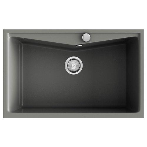 Fregadero 1 seno de resina rectangular poalgi kuma 302 51 x 81 cm
