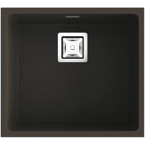 Fregadero de resina rectangular poalgi zie soft 60x45cm