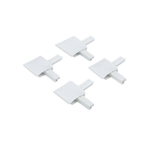 4 escuadras mosquitera corredera con rodamiento blancas
