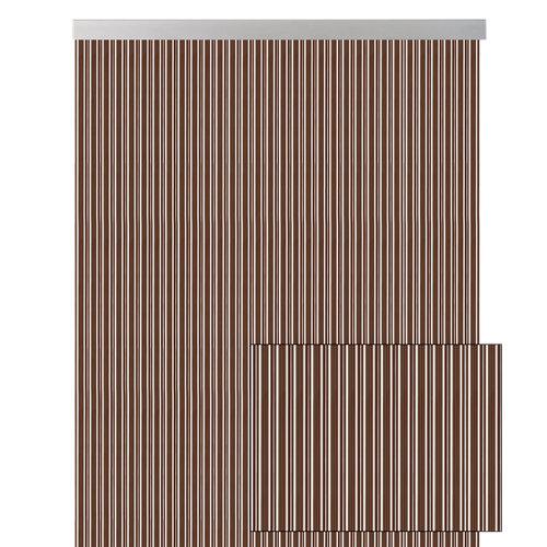 Cortina de puerta marrón de 120 x 210 cm