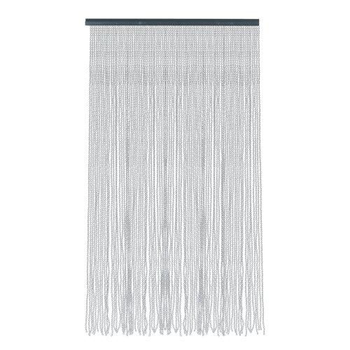 Cortina de puerta gris malta de 120 x 210 cm