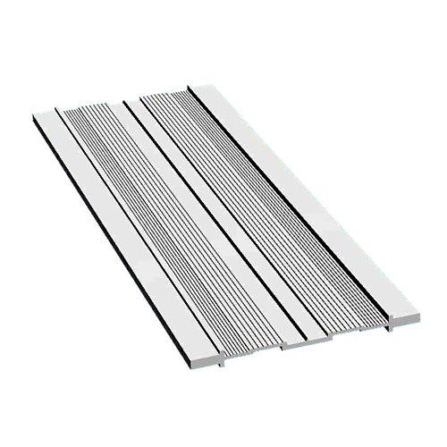 Sistema de montaje aluminio plata 7x200x0,6cm
