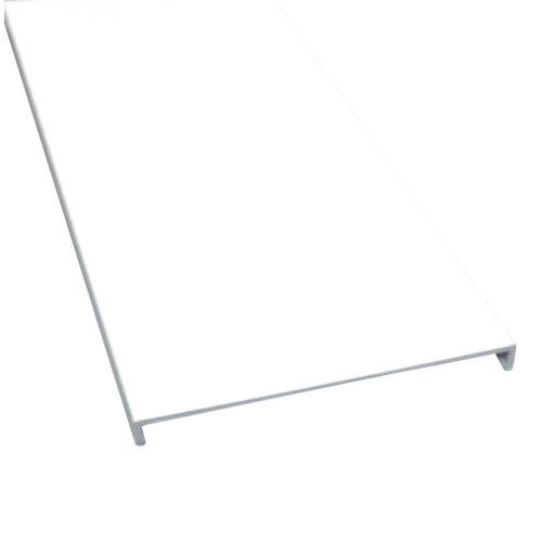 Perfil terminal aluminio blanco 8,6x200x0,8cm