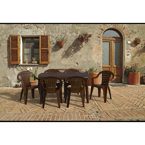 Conjunto de muebles de exterior tonelle de resina para 4 comensales