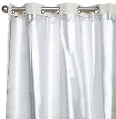Cortina Forro Termico Con Motivo Liso Gris De 275 X 135 Cm Leroy Merlin