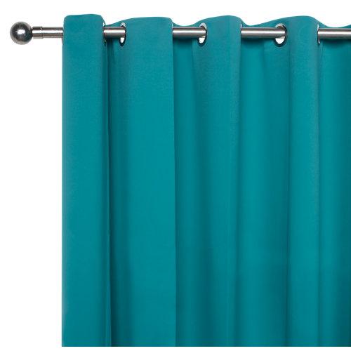 Cortina blackout con motivo liso verde de 280 x 200 cm
