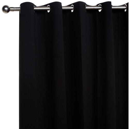 Cortina blackout con motivo liso negro de 280 x 200 cm